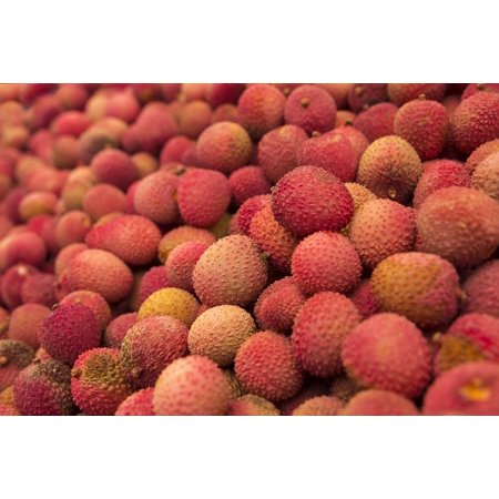 Tropical Fruit Picture (Canvas Print Litschi Lychee Fruit Tropical Fresh Food Healthy Stretched Canvas 10 x 14 )