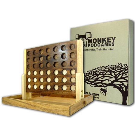 Monkey Pod (Monkey Pod Games Extra Large Wooden Four In a Row)