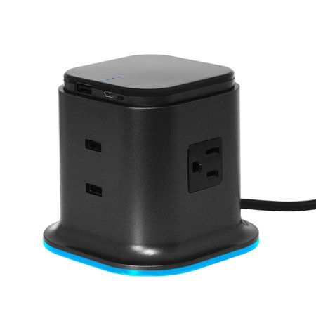 100 PERCENT Hybrid Tower Charging Station With AC Outlet And USB Charge For Laptops, Tablets, Smartphones, Take-out Portable Power Pack (Portable Usb Power Pack)