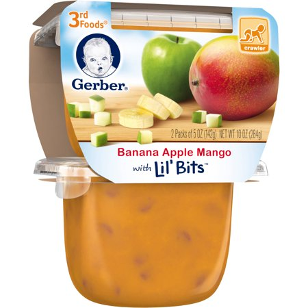 Gerber 3rd Foods Banana Apple Mango Fruit Puree with Lil' Bits, 5 oz ...