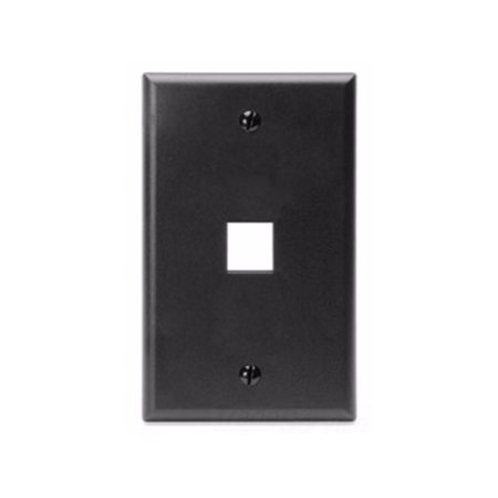 Leviton 41080-1EP QuickPort Wallplate, Single Gang, 1-Port,