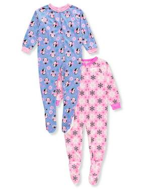 34e06dc03 Toddler Girls One-piece Pajamas - Walmart.com