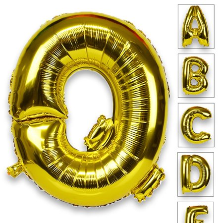 Words That Have The Letter Q.Just Artifacts Glossy Gold 30 Inch Decorative Floating Foil Mylar Balloons Letter Q Letter And Number Balloons For Any Name Or Number