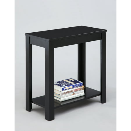 Pierce Chairside Table Black (Merlot Finish Chairside Table)