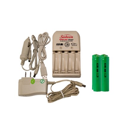 Sunbeam AA / AAA Battery Charger + 4 AA NiMH Batteries (2700 mAh) - image 1 of 1