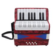 IRIN Mini Kids Accordion Durable Accordion Educational Musical Instrument Toy for Amateur Beginner Best Gift