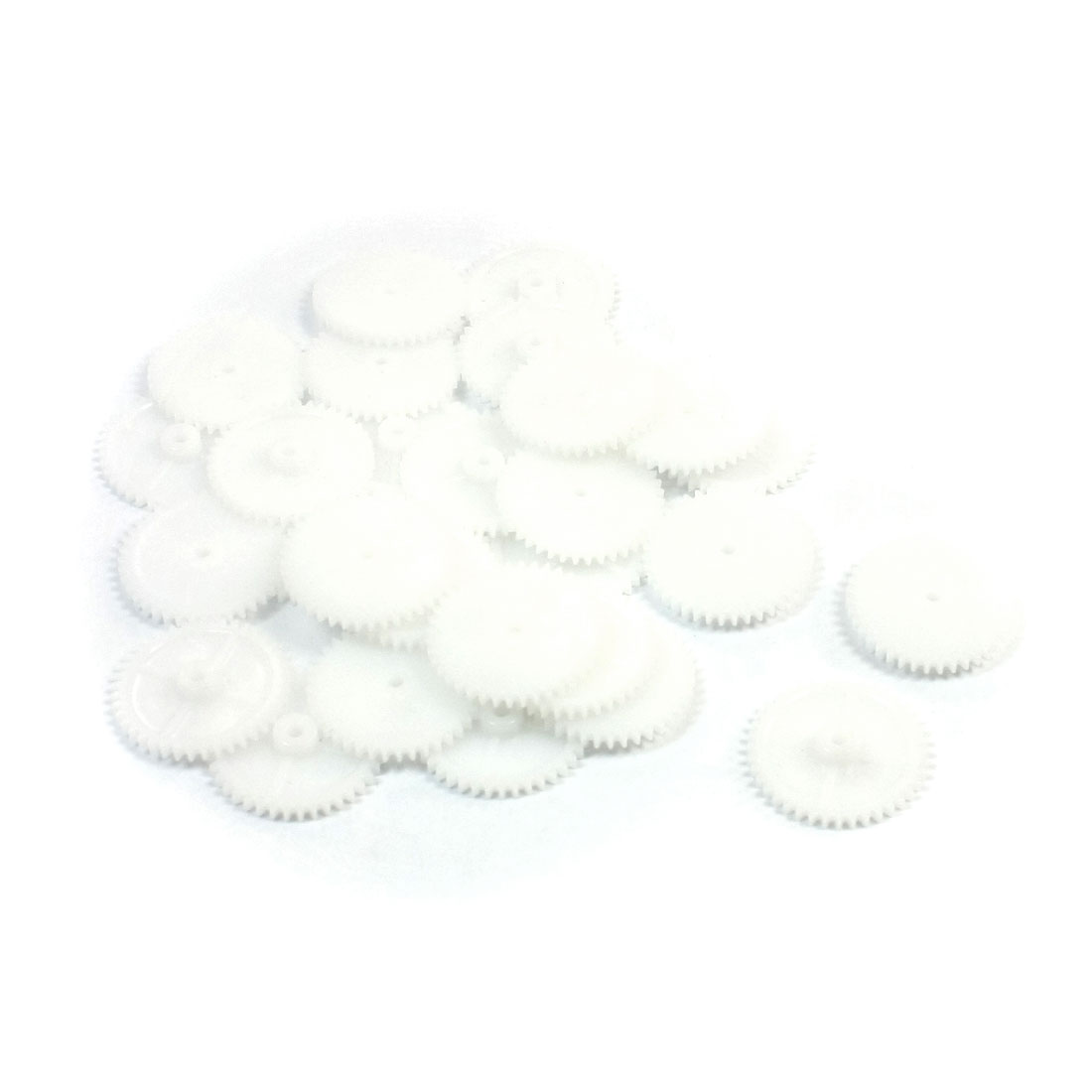 30Pcs 21mmx2mm 0.5 Modulus Plastic Single Reduction Gear for DIY Stepper Motor