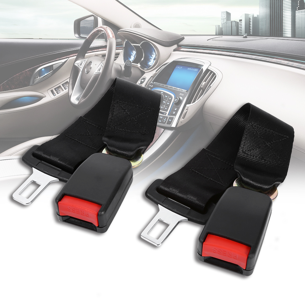 Seat Lap Belt 2x Universal 14  Car Truck Seat Seatbelt Safety Belt Extender Extension w/Buckle