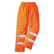 Portwest H441 Medium Hi-Visibility Light Rain Trousers, Orange - Regular