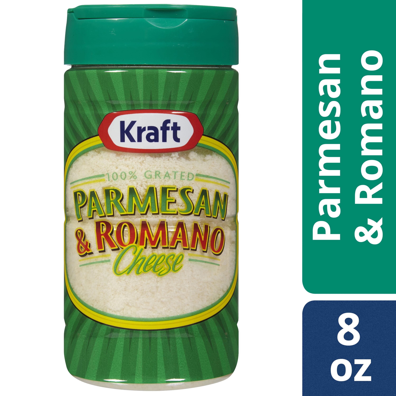 (3 Pack) Kraft 100% Grated Parmesan & Romano Cheese Shaker, 8 oz Bottle