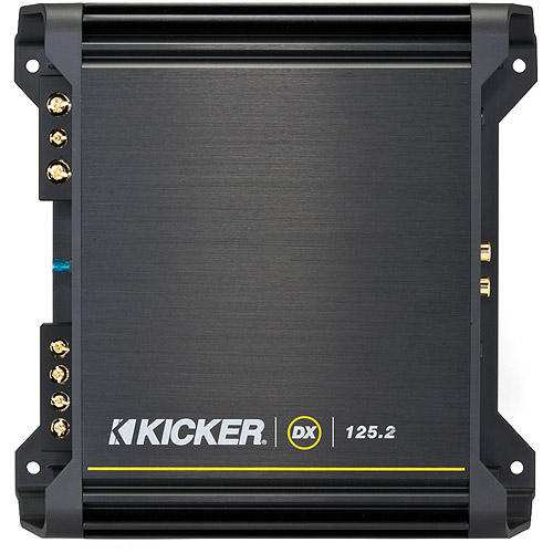 Refurbished KICKER 11-DX125.2 2-Channel DX Series Car Audio / Stereo Amplifier
