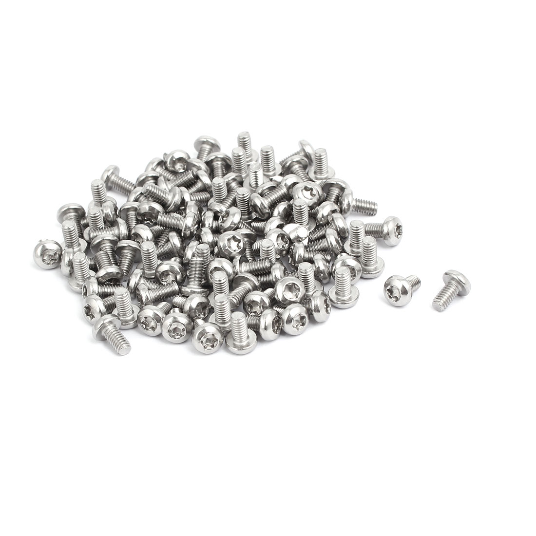 Unique Bargains M4x8mm 304 Stainless Steel Button Head Torx Screws Bolts T20 Drive 100pcs - image 2 of 3