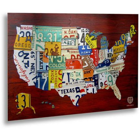 Brush Map - Trademark Fine Art
