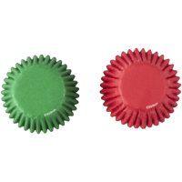 Wilton Red and Green Mini Cupcake Liners, 100-Count