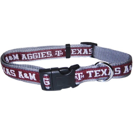 Pets First College Texas A Aggies Pet Collar  3 Sizes Available  Sports Fan Dog Collar