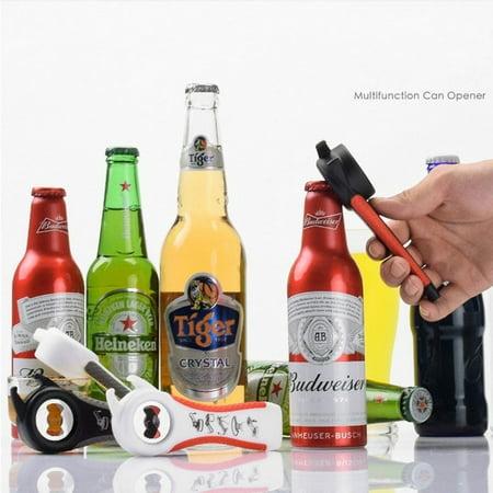 Mrosaa 5 in 1 Bottle Opener Jar Bottle Can Opener Kitchen Manual Tool Beers Soda Bottle Cap Opener Multi Lid Off Gadget Multifunction