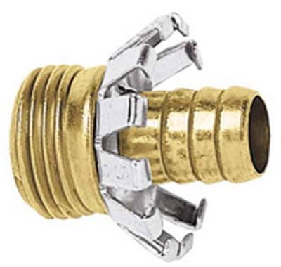 "Clincher Hose Repair, 1/2"" Male, Brass, Fiskars, C12MGT"