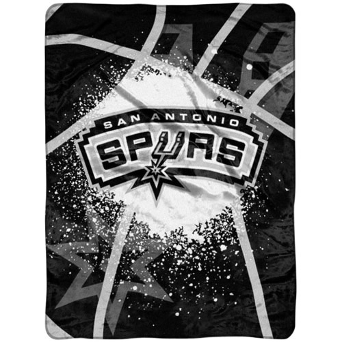 San Antonio Spurs 60'' x 80'' Shadow Play Raschel Blanket - Black - No Size