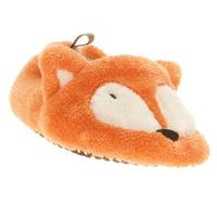 Infant Boys & Girls Plush Orange Fox Slippers Baby Prewalk Shoes