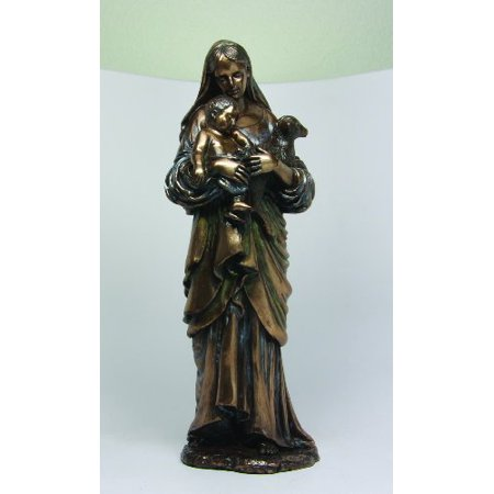 12 Inch Madonna and Child and Lamb Resin Religious Statue Figurine