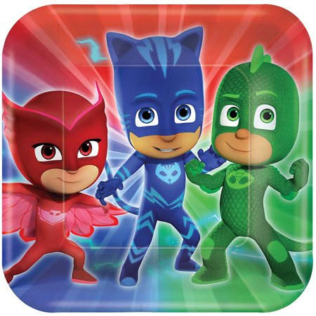 Large Paper Plates (8ct) By Pj Masks - Halloween Mask Paper Plate