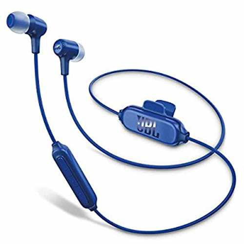 Refurbished JBL E25BT Bluetooth In-Ear Headphones Blue