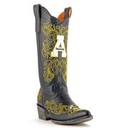 "Gameday Womens 13"" Black Leather Appalachian St Cowboy Boots Size 5 APP-L078-2"