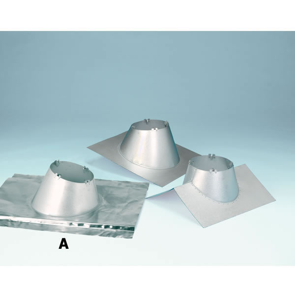 "6"" Secure Temp Peak Roof Flashing, 8/12-12/12 Pitch With Storm Collar, Galvalume"