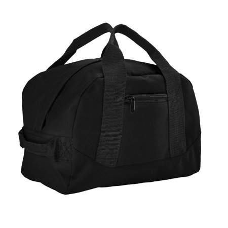 DALIX 12 Mini Duffel Bag Gym Duffle In Black