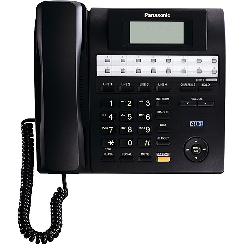 Panasonic KX-TS4100B 4-Line Expandable Corded Integrated Phone