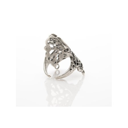 - Antique Silver Plated Adjustable Ring