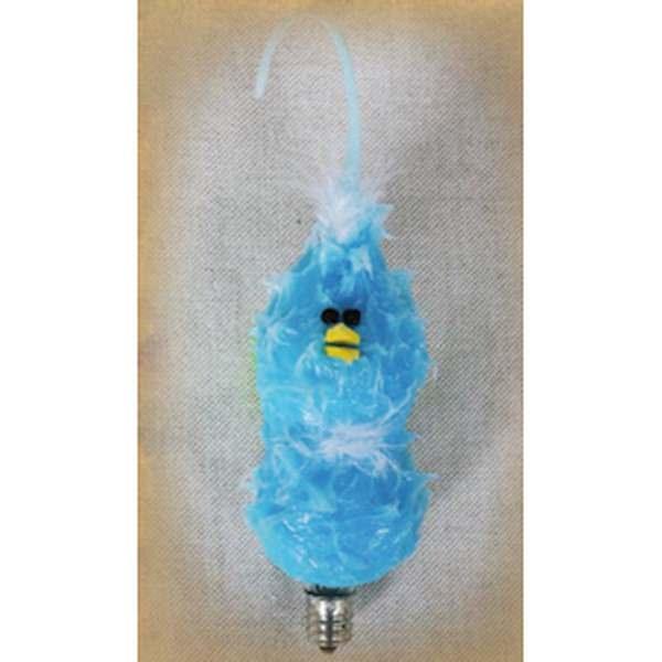 "Vickie Jean's Creations 014041115 - ""Bluebird Stacker Furry Friend"" Candelabra Screw Base Light Bulb"