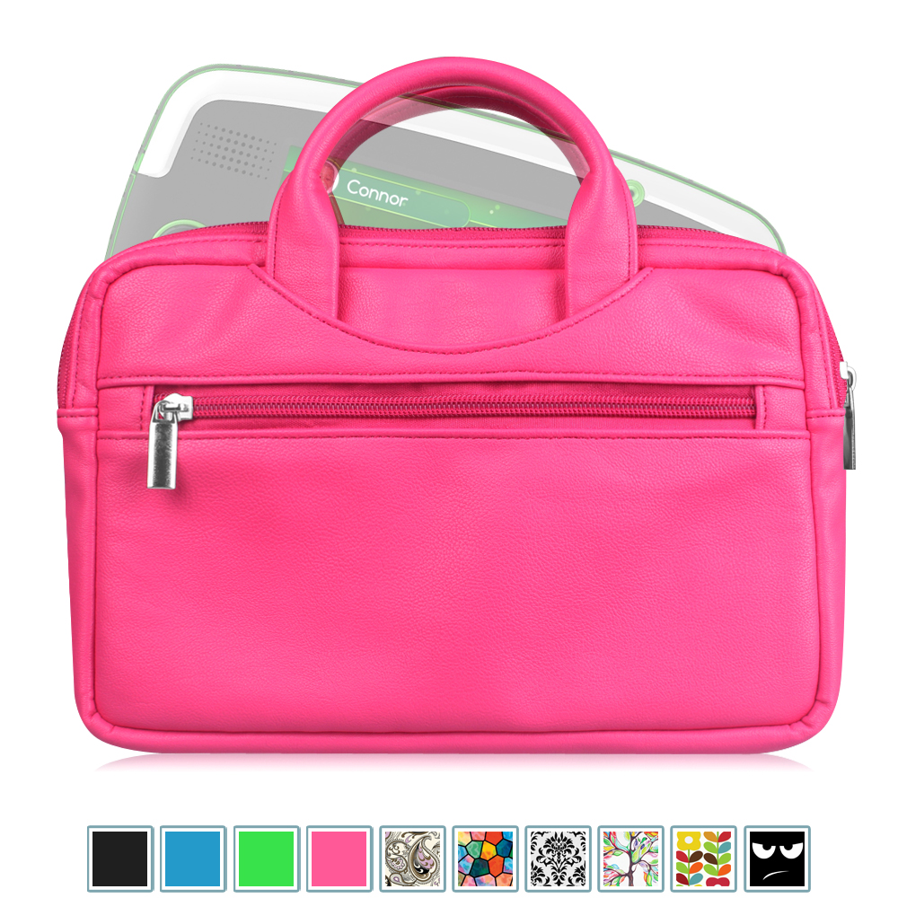 "Fintie Universal 6 - 8 Inch Tablet Sleeve Case for LeapFrog Epic / LeapPad /nabi 2S/ Dragon Touch 7"" Kids Tablet,Magenta"