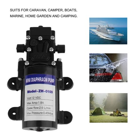 Dc 12V 1Gal Min Automatic Diaphragm Water Pump High Pressure Self Priming Pump