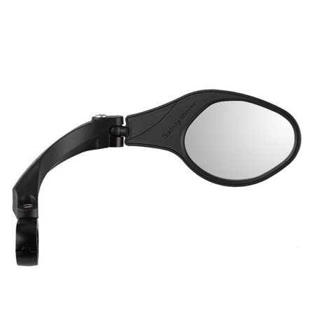 1 PCS Stainless Steel Lens Mirror MTB Handlebar Side Safety Rear View Mirror Road Bike Cycling Flexible Rearview Mirrors Stainless Steel One Handlebar