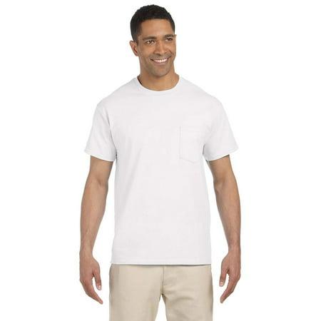G230 Ultra Cotton Pocket T-Shirt -White-5X-Large