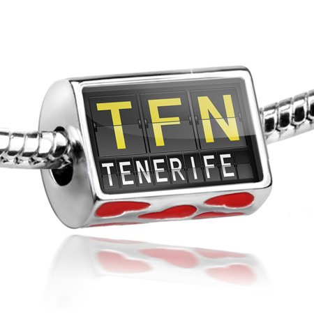 NEONBLOND - Bead TFN Airport Code for Tenerife Charm Fits