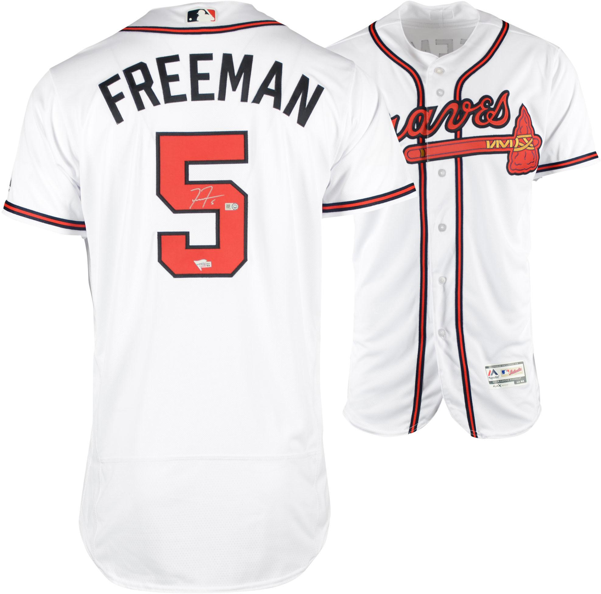 Freddie Freeman Atlanta Braves Autographed Majestic White Authentic Jersey - Fanatics Authentic Certified