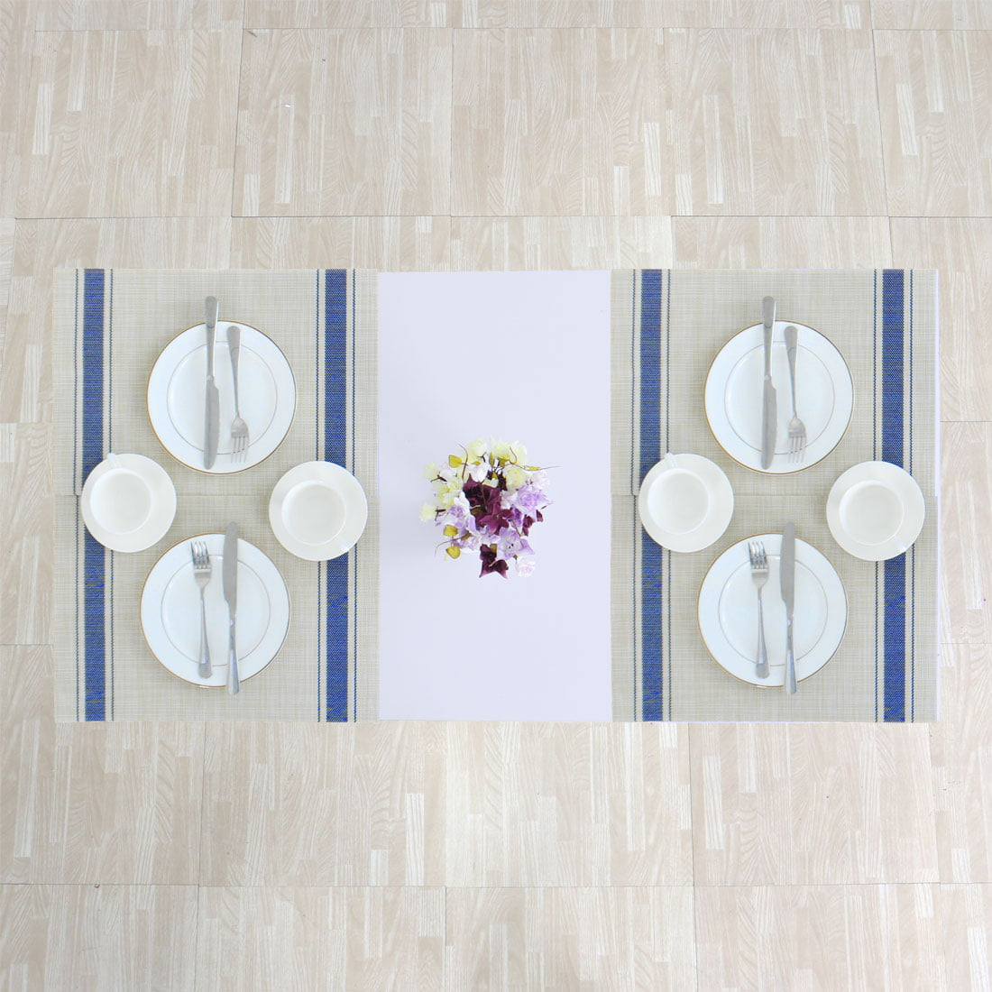 Tree Brown 6pcs PVC Dining Room Anti-Slip Placemats for Table Heat Insulation