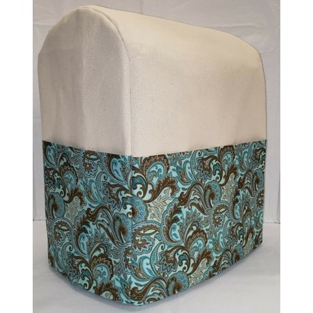 Canvas Brown & Teal Paisley Cover Compatible with Farberware 4.7qt Stand Mixer (Natural) - image 1 of 1