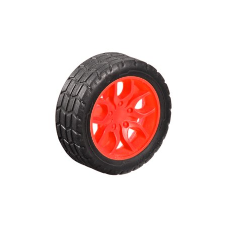 30mm Dia 2 Inner Hole Dia 11mm Thick Rubber Toy Car Wheel Red (30mm Holes)