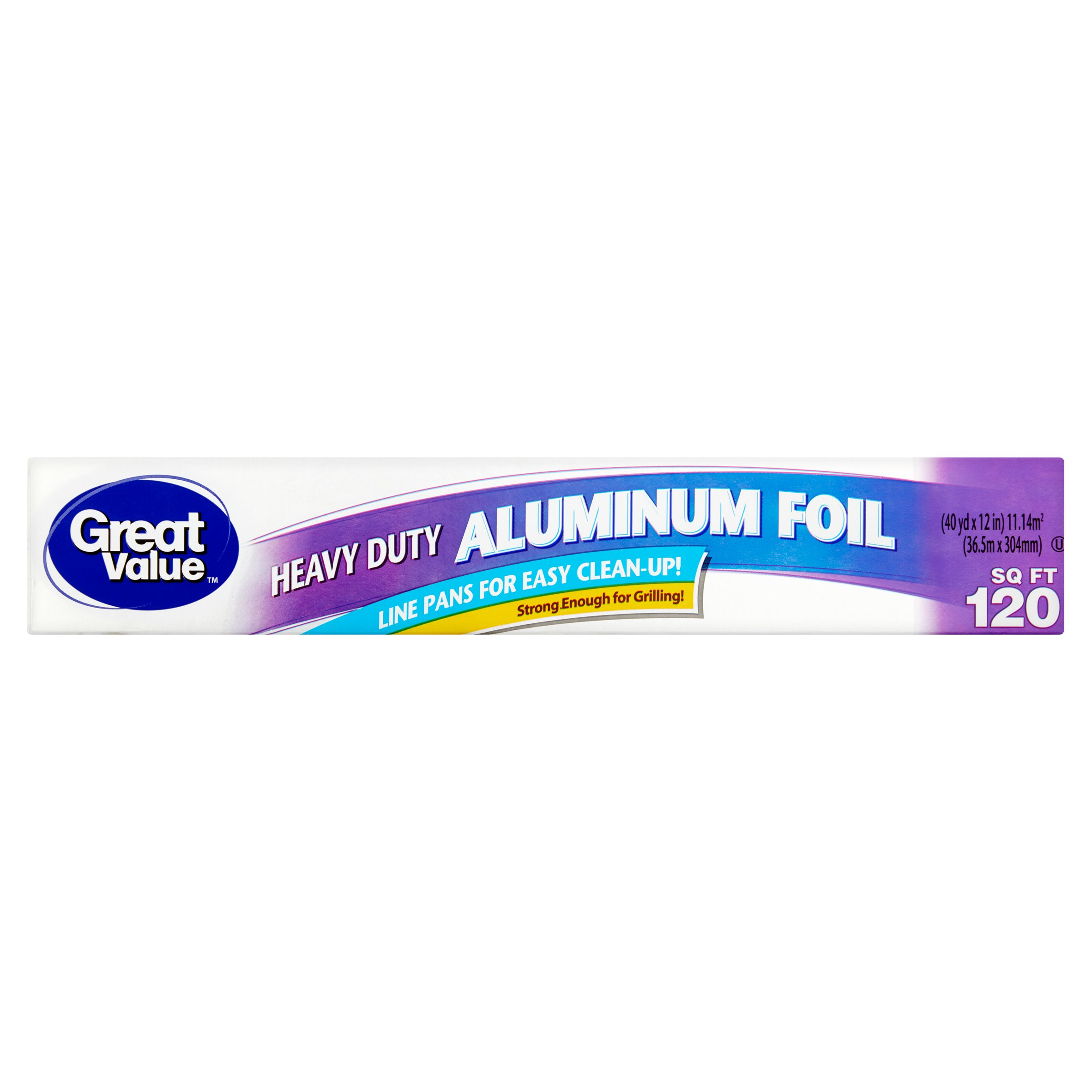 Great Value Heavy Duty Aluminum Foil, 120 sq ft