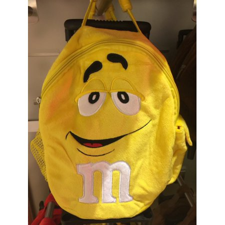M&M's World Yellow Character Plush Backpack Trolley For Child New with Tags