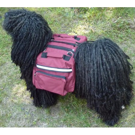 Deluxe Paintball Harness (Dog Backpack/Harness Deluxe 2 in 1 Size:Large Color:Red, Leash ring By HDP)