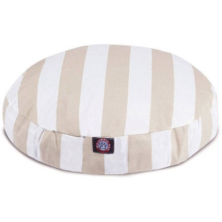 Vertical Stripe Large Round Outdoor/Indoor Dog Bed