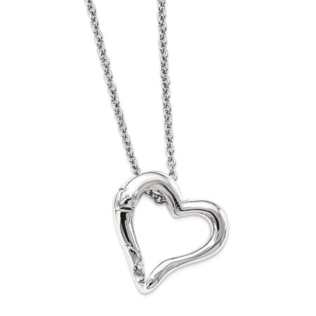 Silver Tone Heart Pendant Band Ring Or Eyeglass Holder 18 Inch Chain Necklace Personal Reading Glass Eyewear Fashion Jewelry Ideal Gifts For Women Gift Set From Heart ()