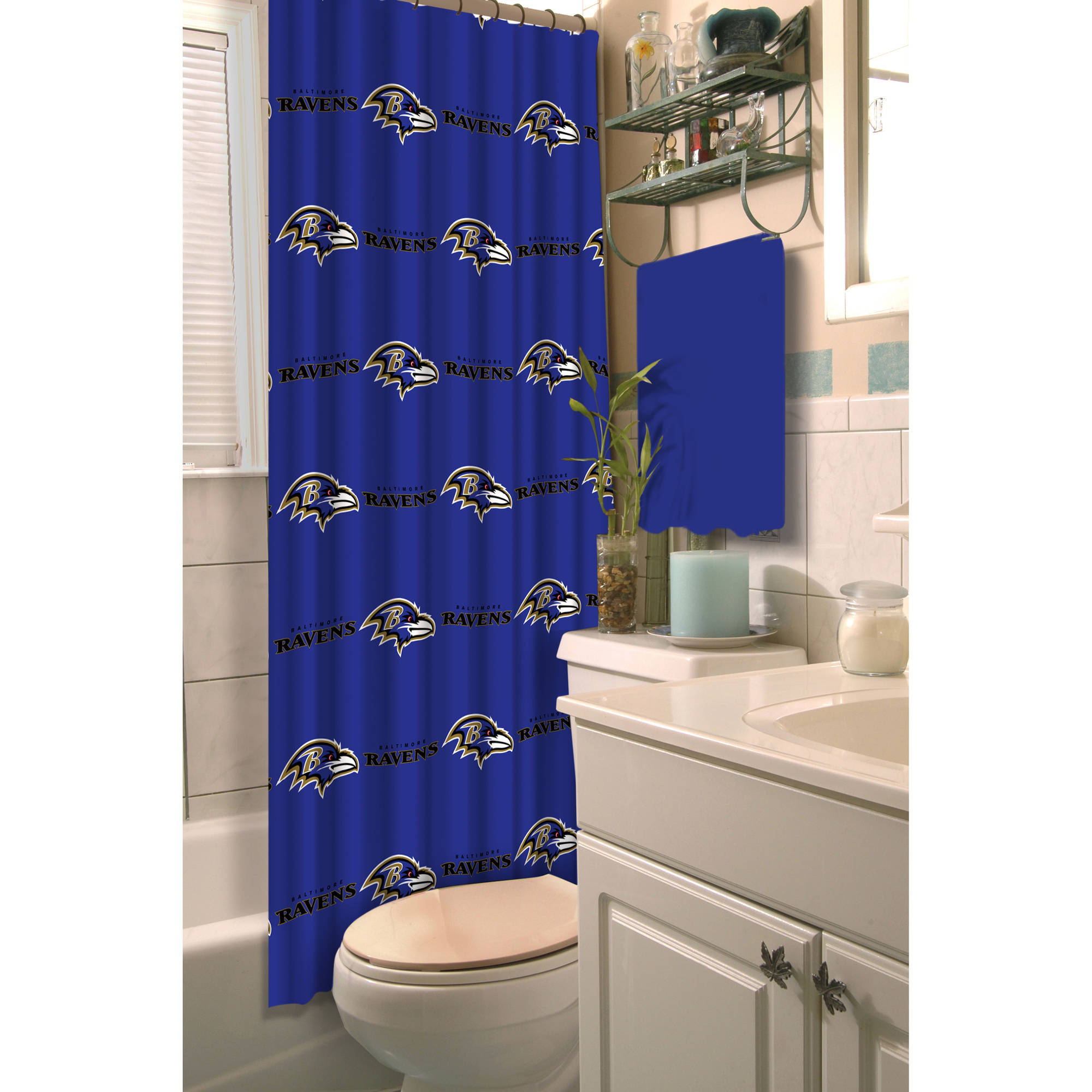 NFL Baltimore Ravens Decorative Bath Collection Shower Curtain