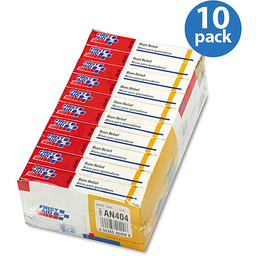 First Aid Only Burn Relief, 6 count, (Pack of 10)