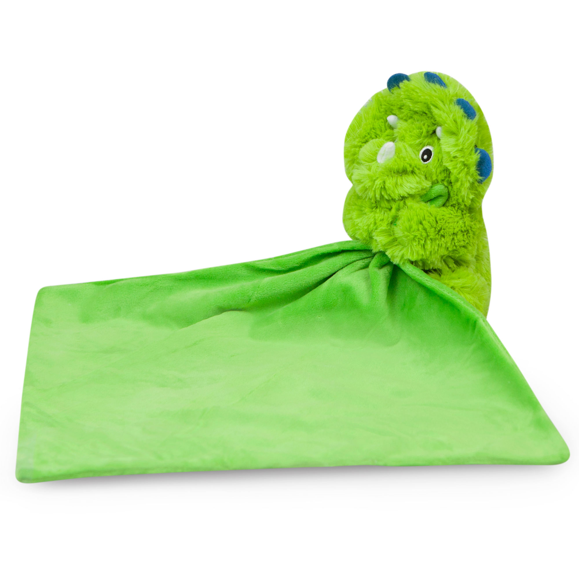 Waddle Rattle Dinosaur Toy Baby Blankie Stuffed Animal Security Blanket Dino Green by Waddle and Friends