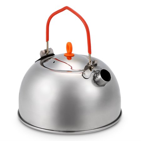 0.6L Stainless Steel Tea Kettle Portable Outdoor Camping Hiking Water Kettle Teapot Coffee Pot - image 1 de 7